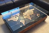 Handmade Vintage World Map Coffee Table Lime Lace within measurements 1024 X 1024