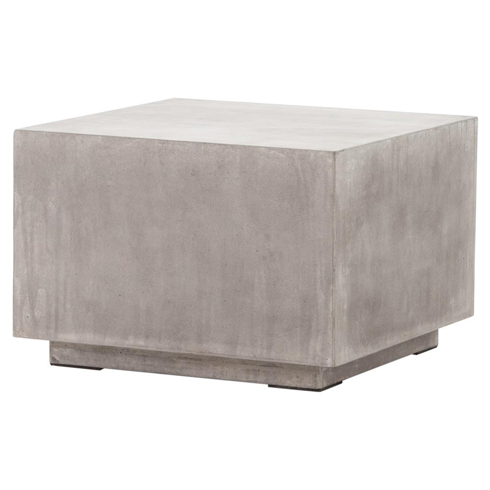 Hanz Industrial Loft Grey Block Concrete Cube Coffee Table Kathy intended for proportions 1000 X 1000