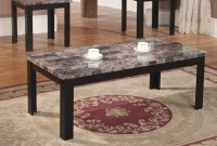 Home Source Black Marble Coffee Table Set Walmart throughout measurements 1500 X 1500