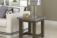 Home Styles Concrete Chic Weathered Brown Concrete Top End Table within proportions 1000 X 1000