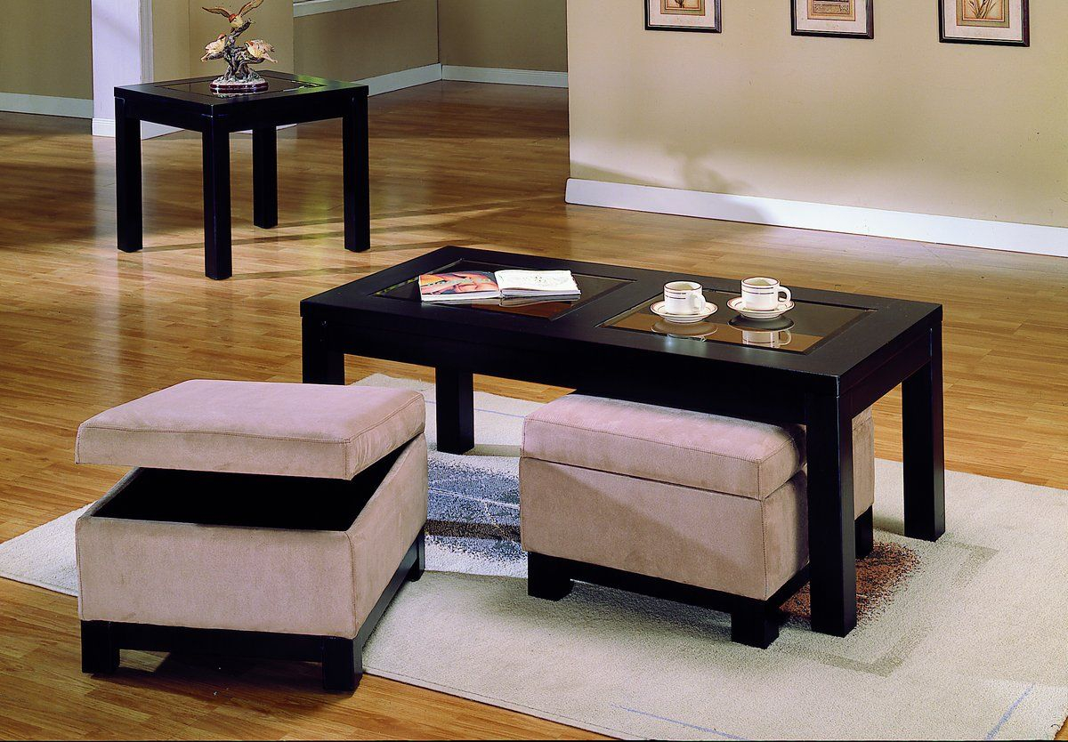 Homelegance Symphony Cocktail Table Ottoman Peat Microfiber In 2019 throughout proportions 1200 X 834