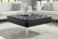 Homespot Spade Pu Leather Ottoman Coffee Table Button Tufted for sizing 2000 X 2000