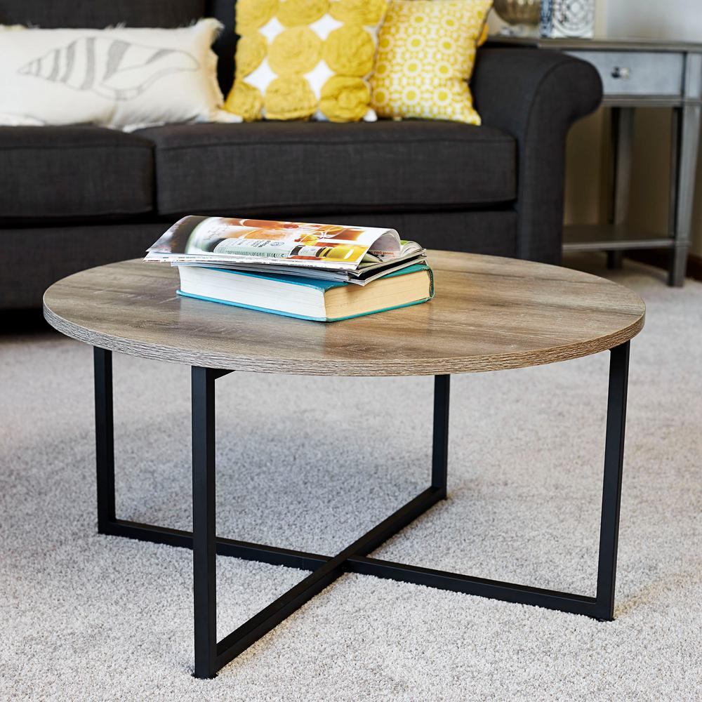 Household Essentials Ashwood Round Coffee Table In Light Wood 8079 1 with regard to dimensions 1000 X 1000