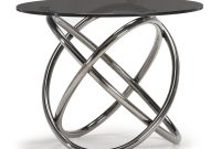 Houseology Collection Napa Side Table Grey Smoke Glass Top Black inside size 1000 X 1000