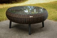 Indooroutdoor Round Wicker Coffee Table Pecan Wicker Tortuga pertaining to dimensions 1200 X 801