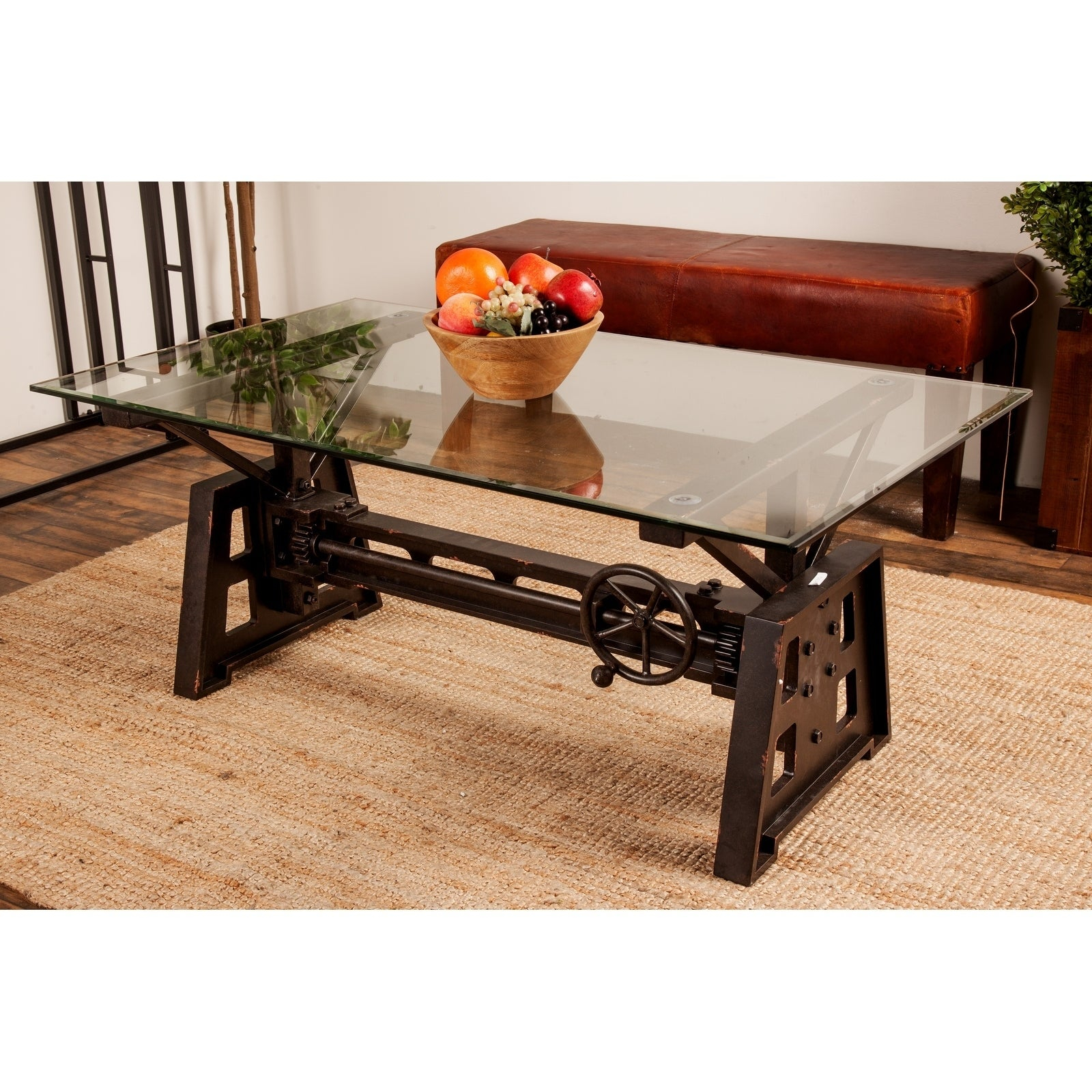 Industrial 20 X 47 Inch Gray Mechanical Coffee Table for proportions 1600 X 1600