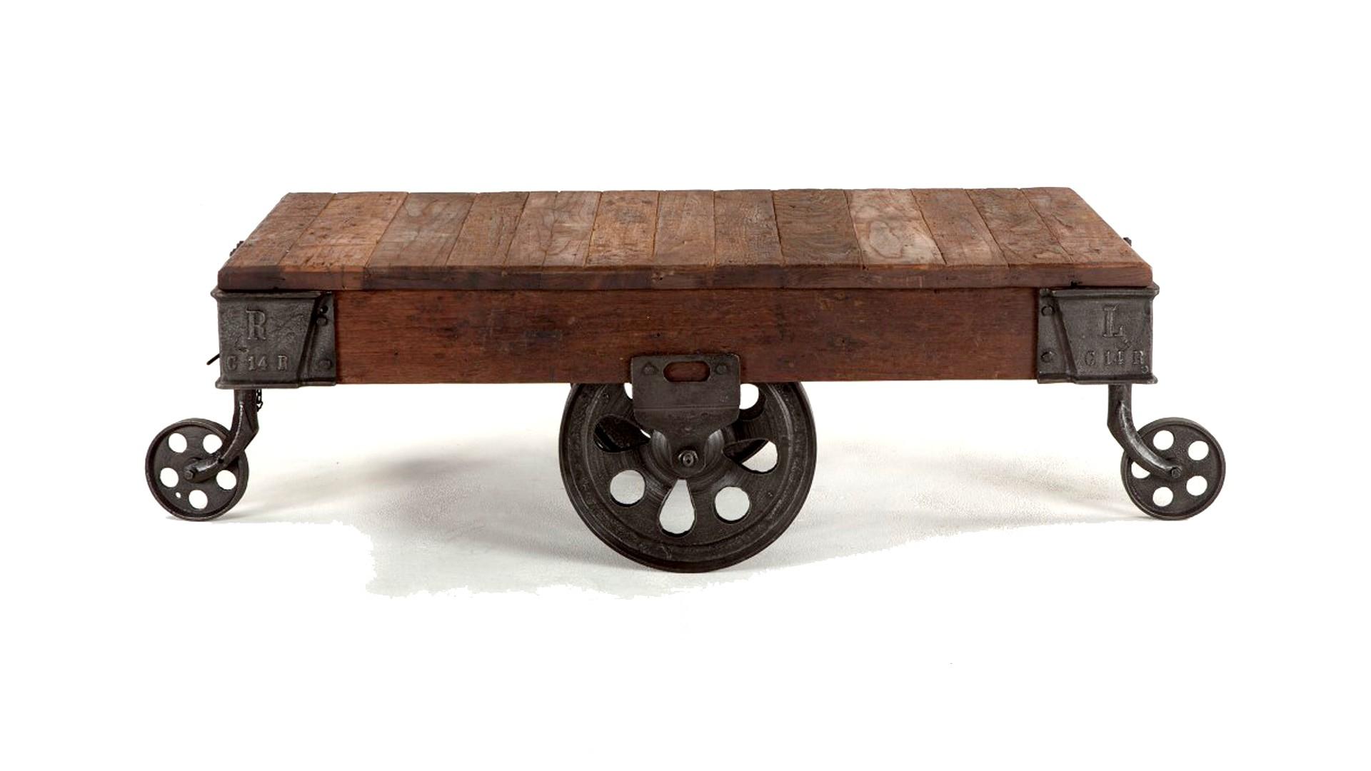 Industrial Coffee Table Wheels Barnxo Handmade Furniture Barnwood regarding proportions 1920 X 1080