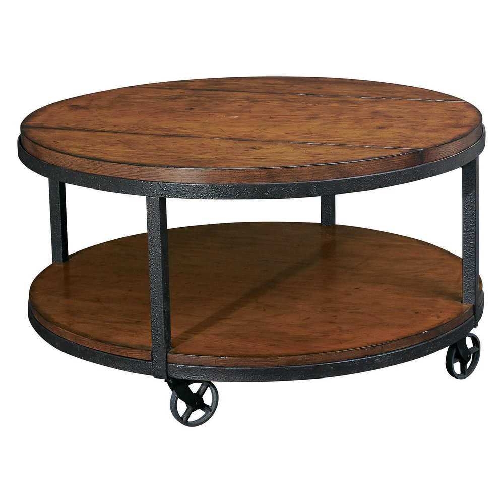 Industrial Metal Wood Round Coffee Tableindustrial Coffee Table On with regard to measurements 1000 X 1000