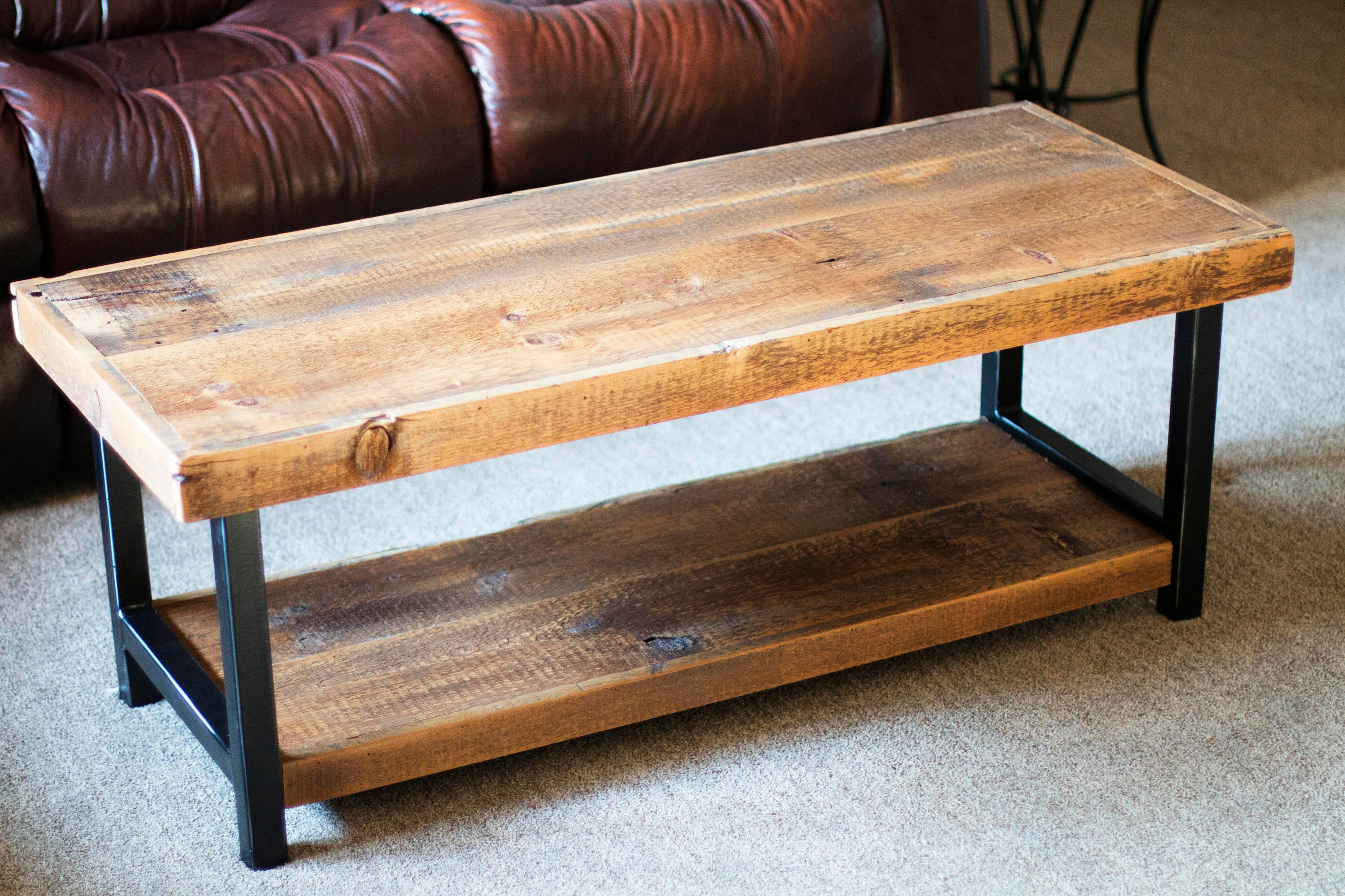 Industrial Rustic Coffee Table Reclaimed 1800s Barn Wood And Etsy regarding proportions 3000 X 2000