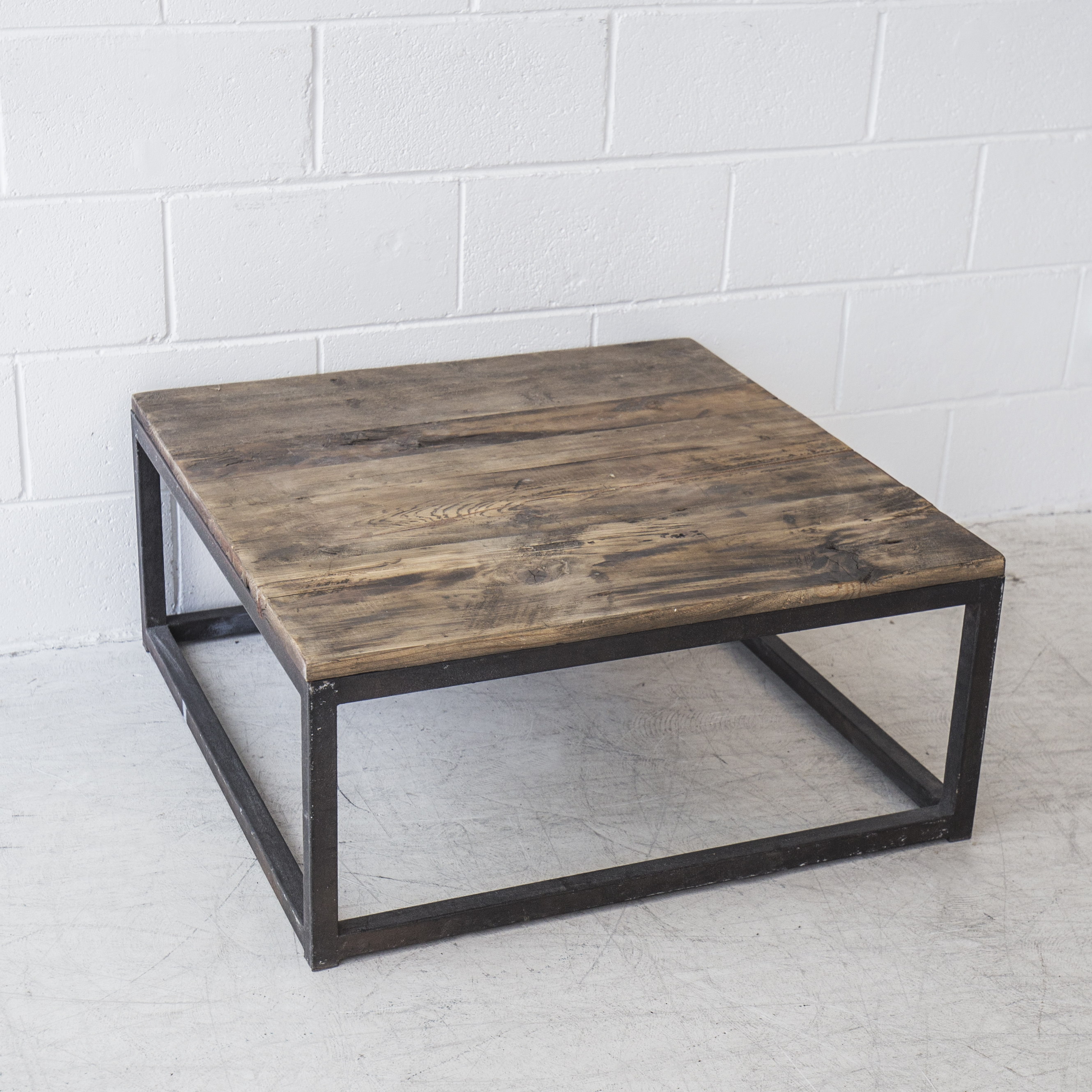 Industrial Square Coffee Table The Beach Furniture for measurements 2659 X 2659