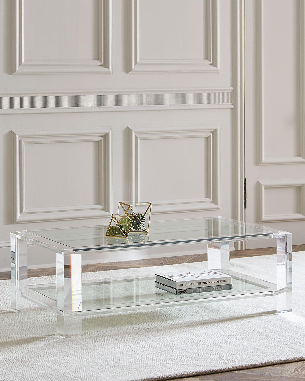 Interlude Home Landis Acrylic Coffee Table Neiman Marcus with regard to sizing 1200 X 1500