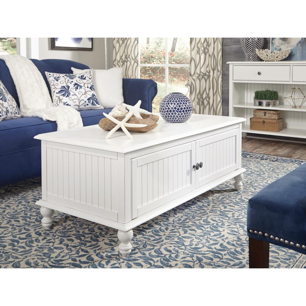 International Concepts Cottage Beach White 2 Door Coffee Table Ot07 intended for sizing 1000 X 1000