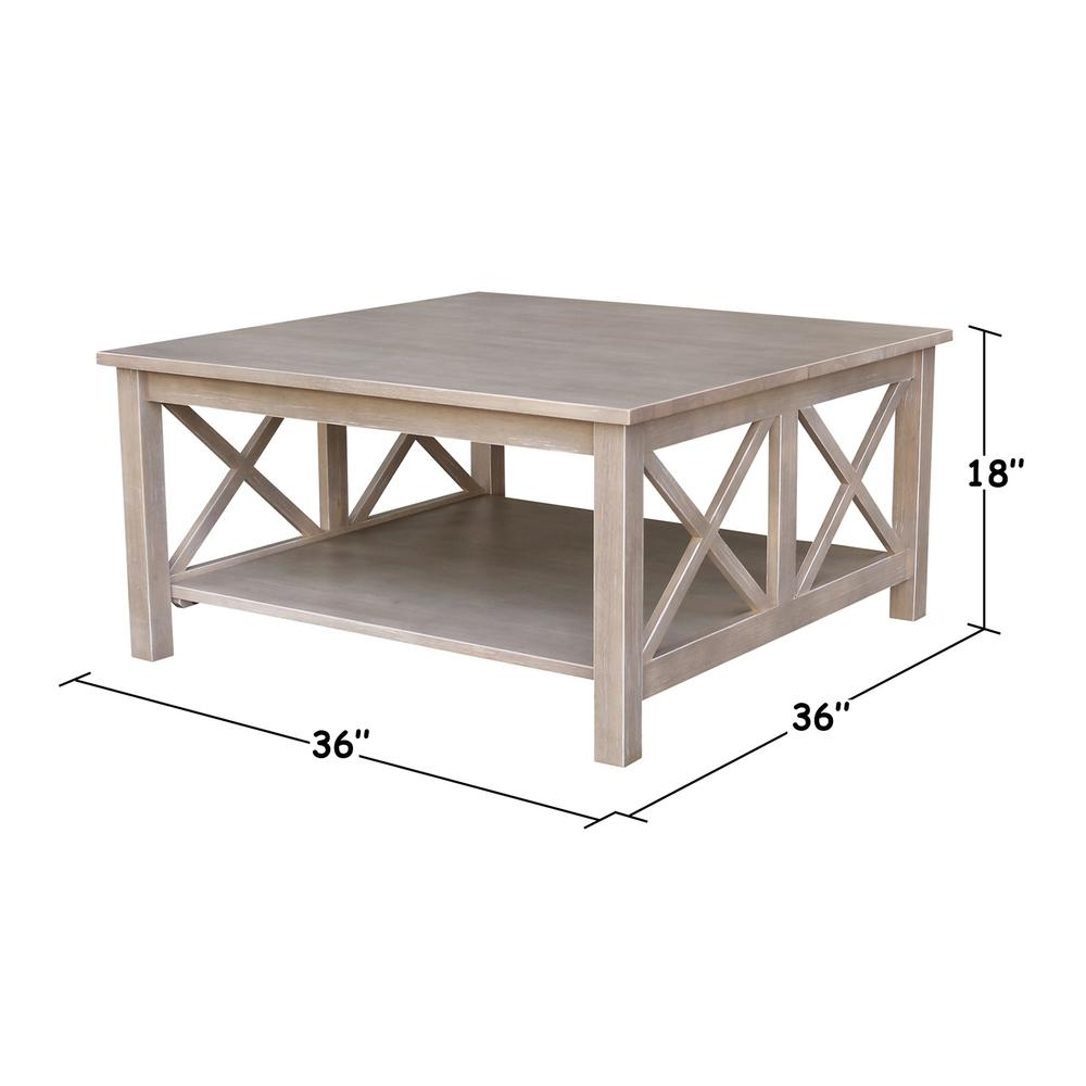 International Concepts Hampton Weathered Taupe Gray Coffee Table with regard to dimensions 1000 X 1000
