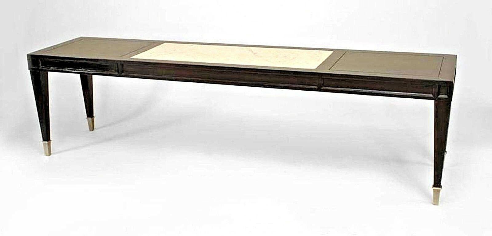 Italian 1940s Neo Classic Ebonized Narrow Rectangular Coffee Table inside size 1600 X 768
