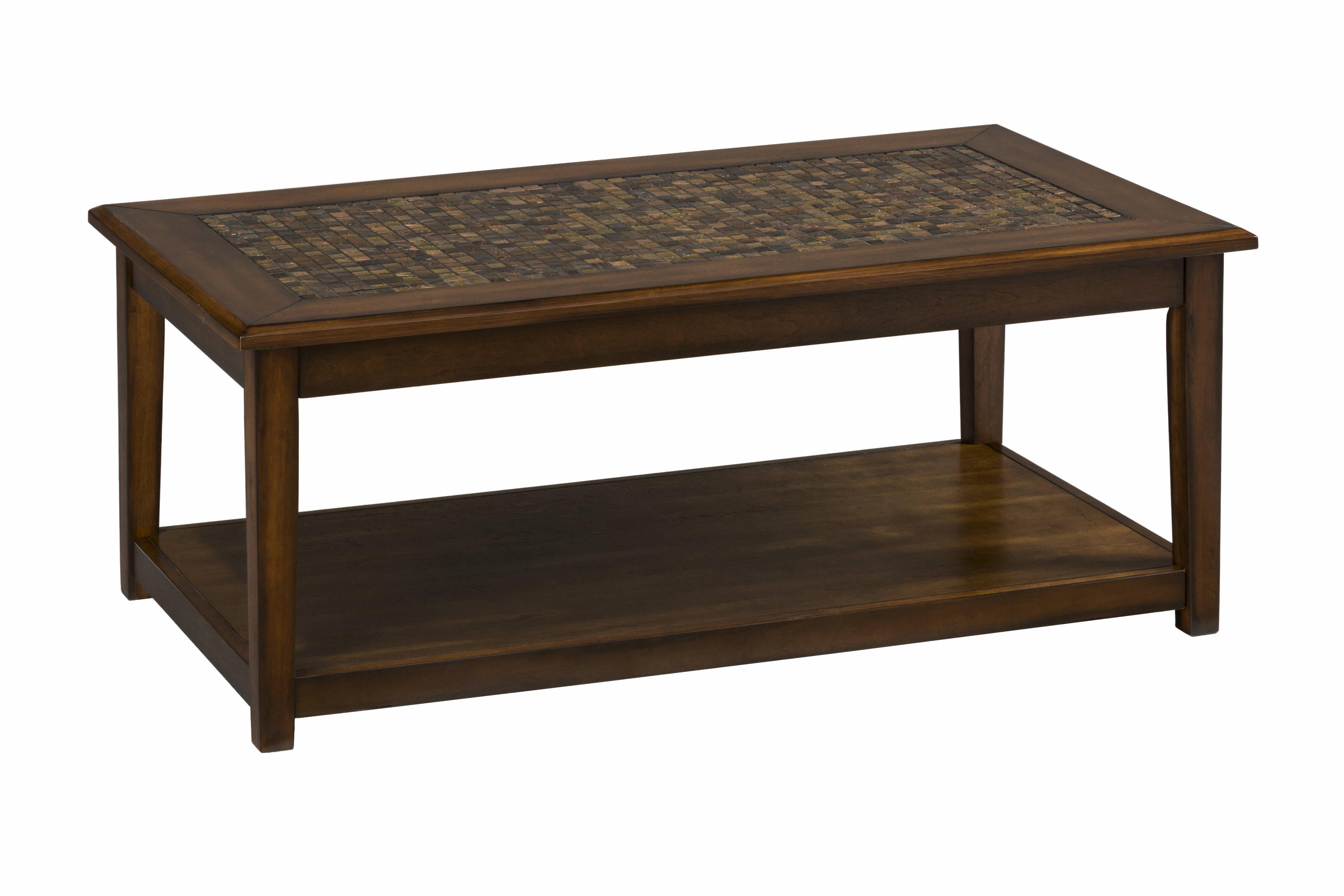 Jofran Furniture Baroque Brown Mosaic Tile Inlay Cocktail Table regarding proportions 4463 X 2975