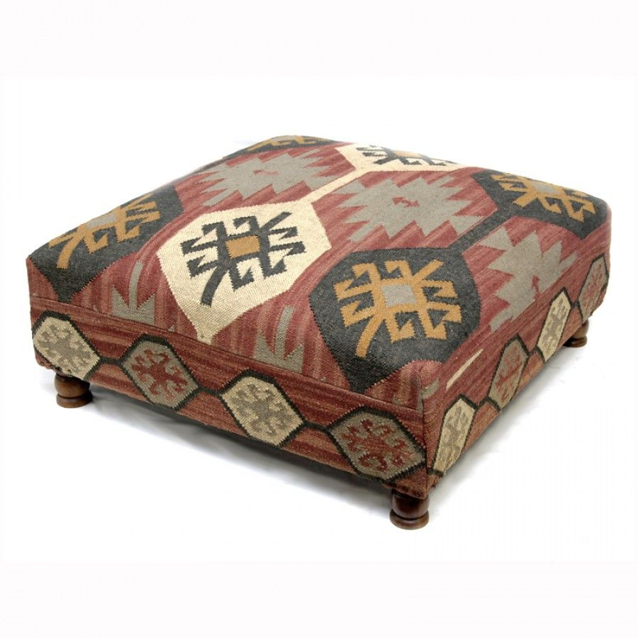 Kilim Ottoman Coffee Table Beautiful Kilim Patchwork throughout proportions 900 X 900
