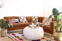 Large Moroccan Pouf Coffee Table Pouf White Leather Xl 31x16 pertaining to size 800 X 1160