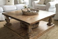 Large Square Rustic Baluster Wide Plank Coffee Table Etsy with measurements 937 X 960