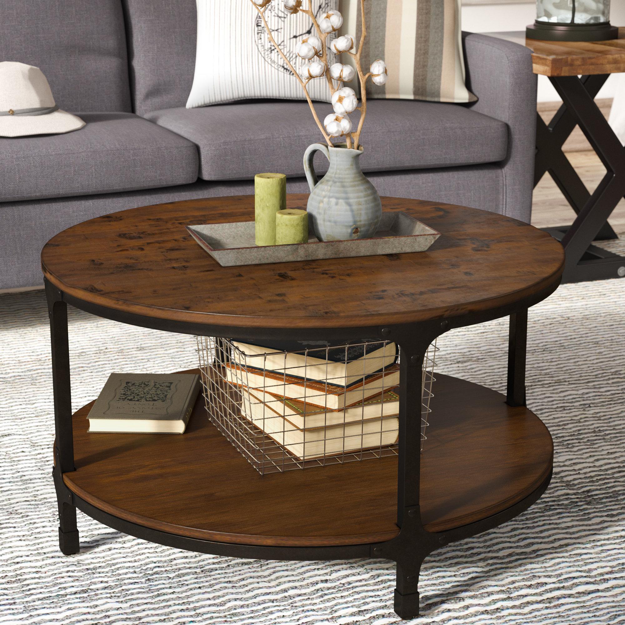 Laurel Foundry Modern Farmhouse Carolyn Round Coffee Table Reviews for dimensions 2000 X 2000