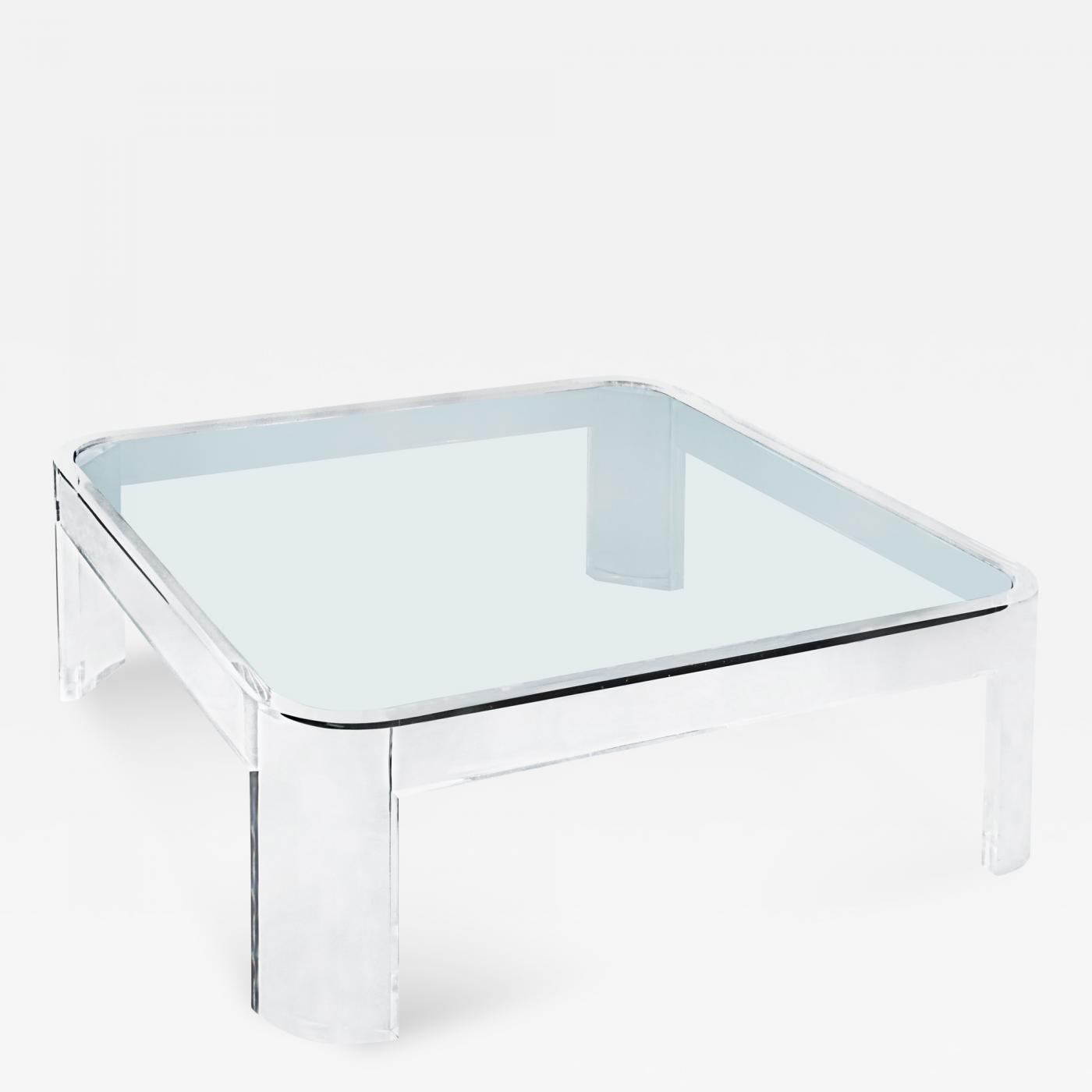 Les Prismatiques Exceptional Lucite And Glass Coffee Table Les for dimensions 1400 X 1400