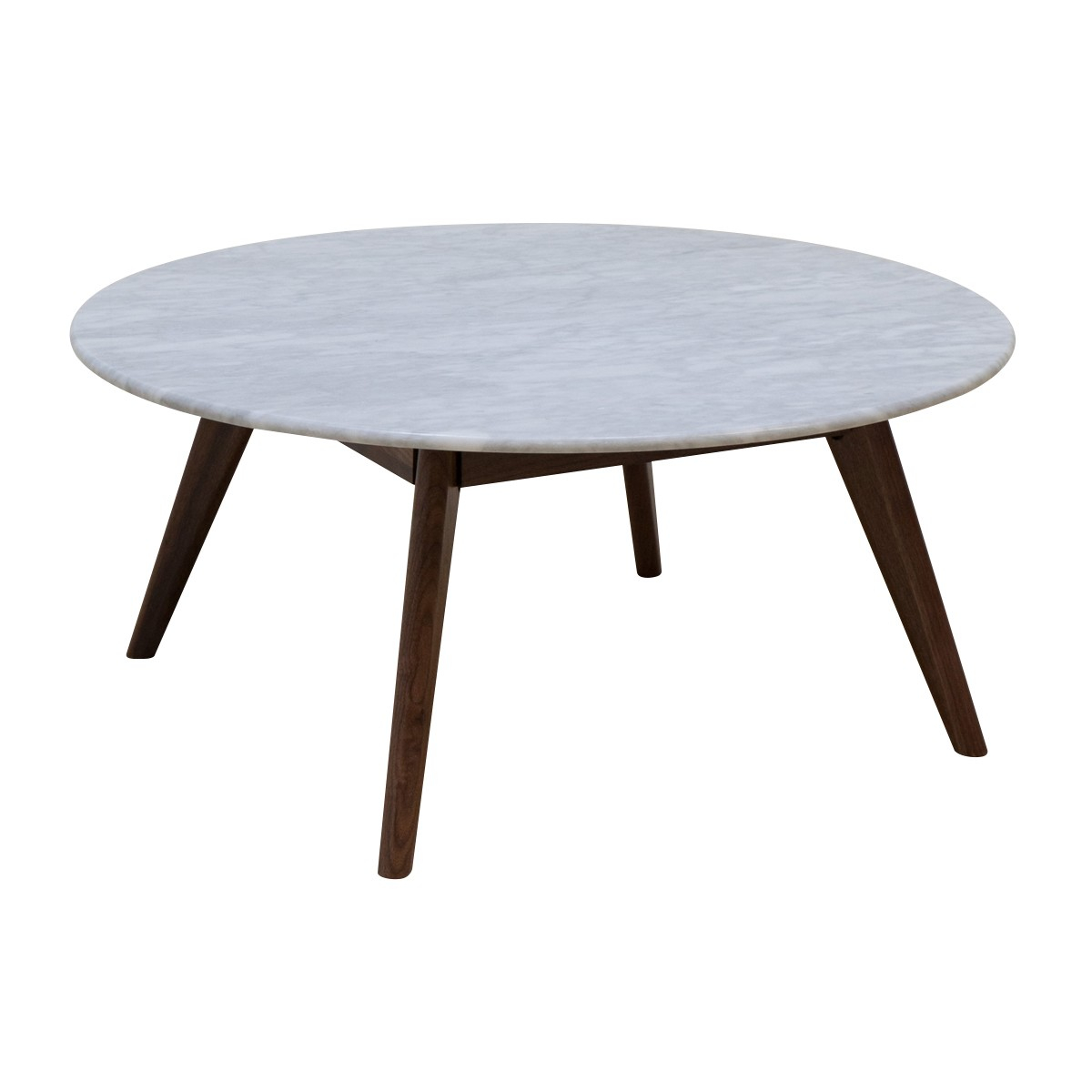 Life Interiors Oia Round Marble Coffee Table Walnut 90cm for size 1200 X 1200