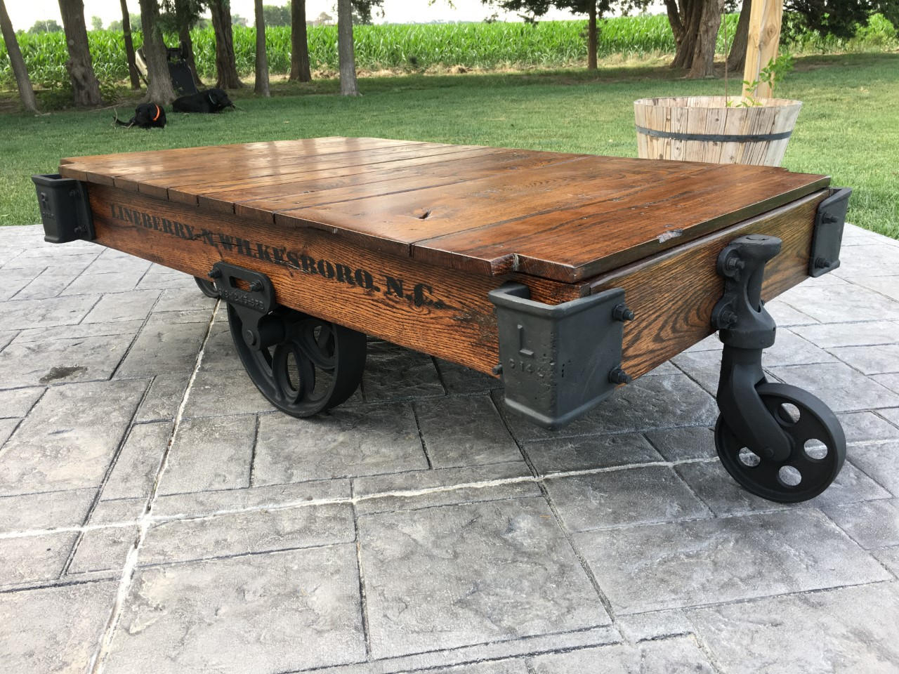 Linebery Factory Cart Railroad Cart Coffee Table Etsy pertaining to measurements 1280 X 960