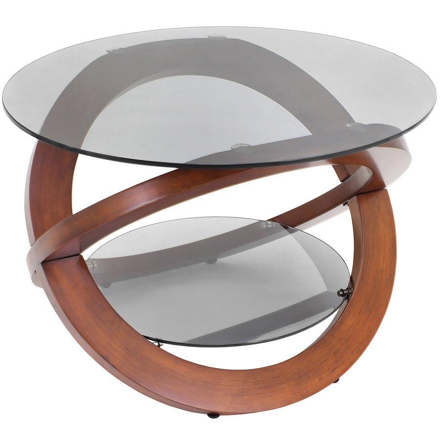 Linx Coffee Table Walnut Smoked Lumisource Furniture Cart regarding dimensions 900 X 900