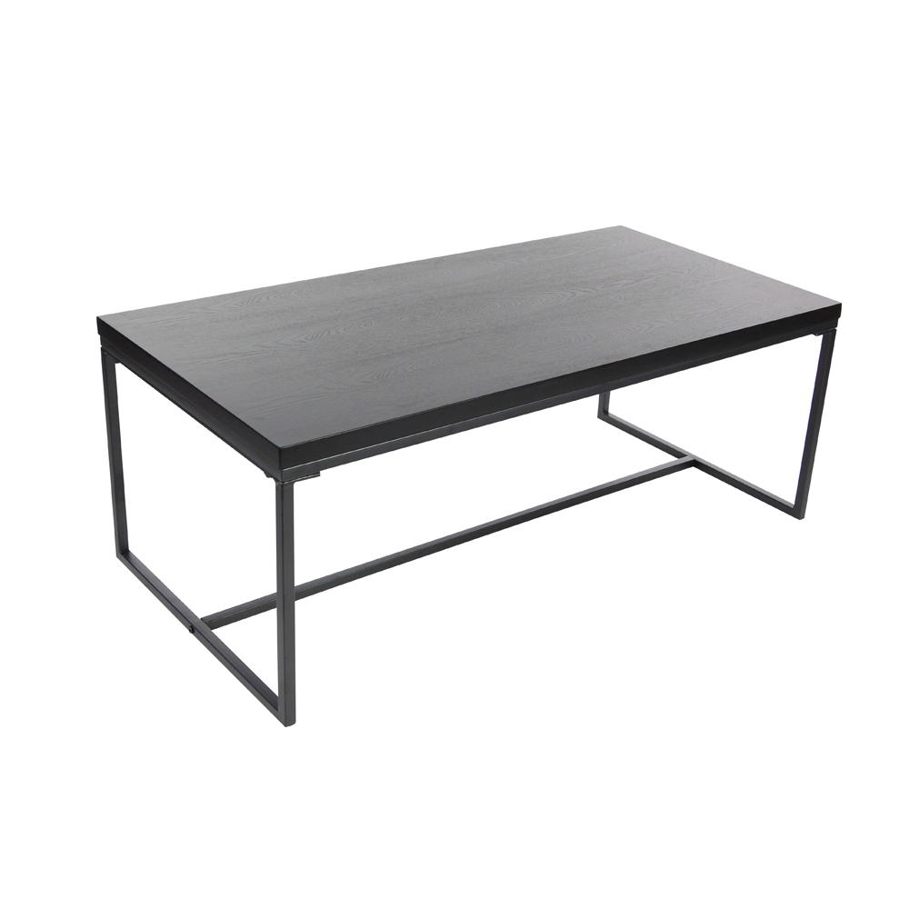 Litton Lane 47 In X 18 In Modern Metal And Wood Coffee Table In pertaining to proportions 1000 X 1000