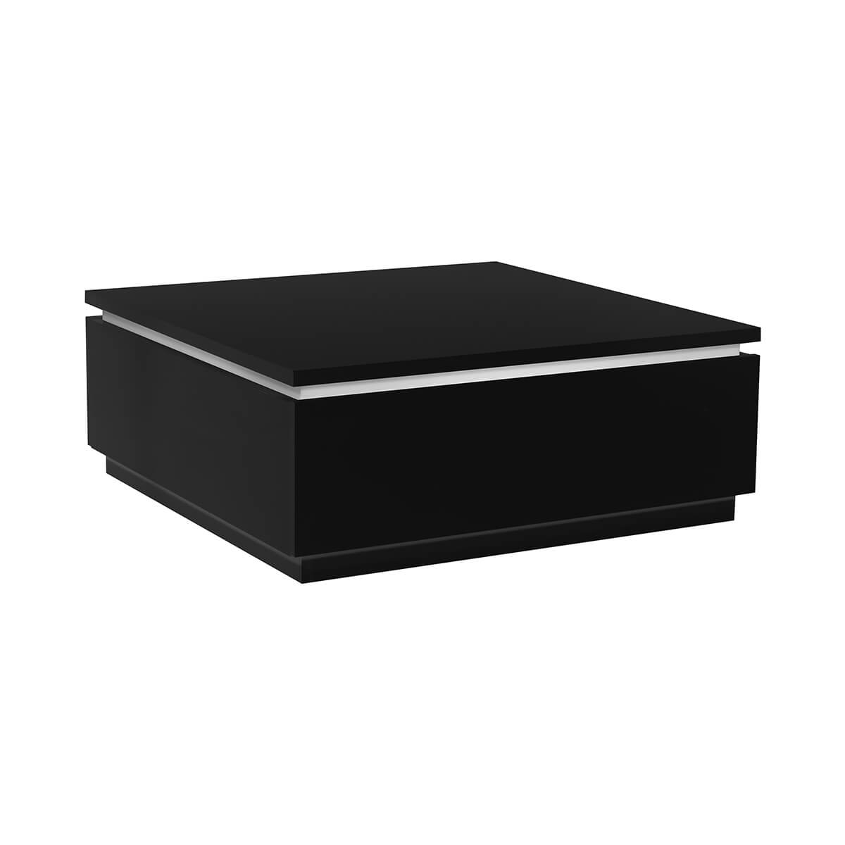 Logan High Gloss Black Coffee Table With Storage Lights Fads with regard to sizing 1200 X 1200