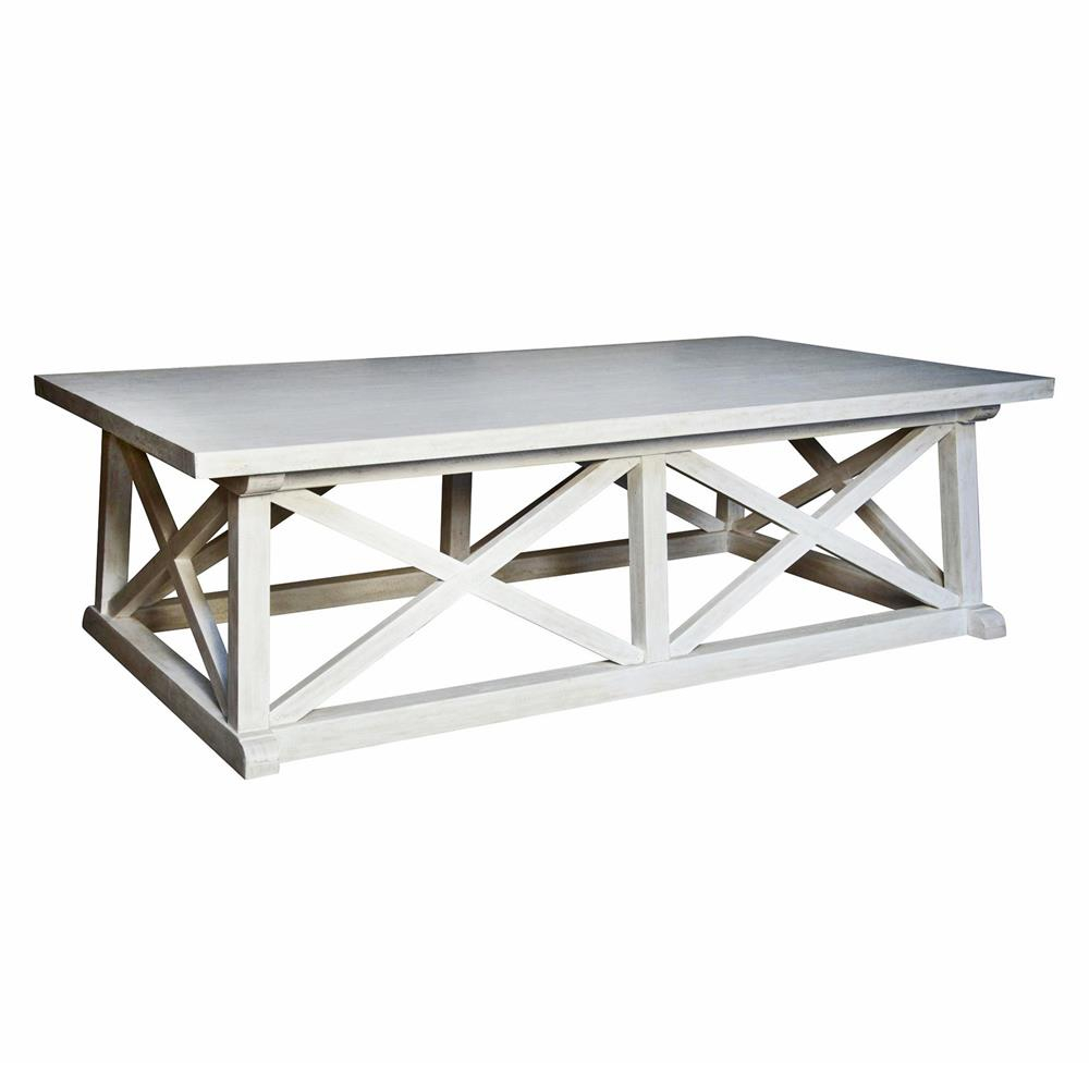 Luc Coastal Beach White Wash Coffee Table Kathy Kuo Home regarding measurements 1000 X 979