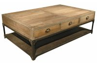 Luca Industrial Loft Reclaimed Wood Rustic Iron Drawers Coffee Table within proportions 1000 X 1000
