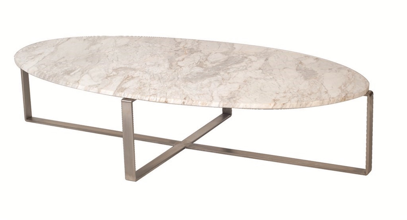 Lulu Marble Oval Coffee Table Moss Furniture in size 1400 X 757