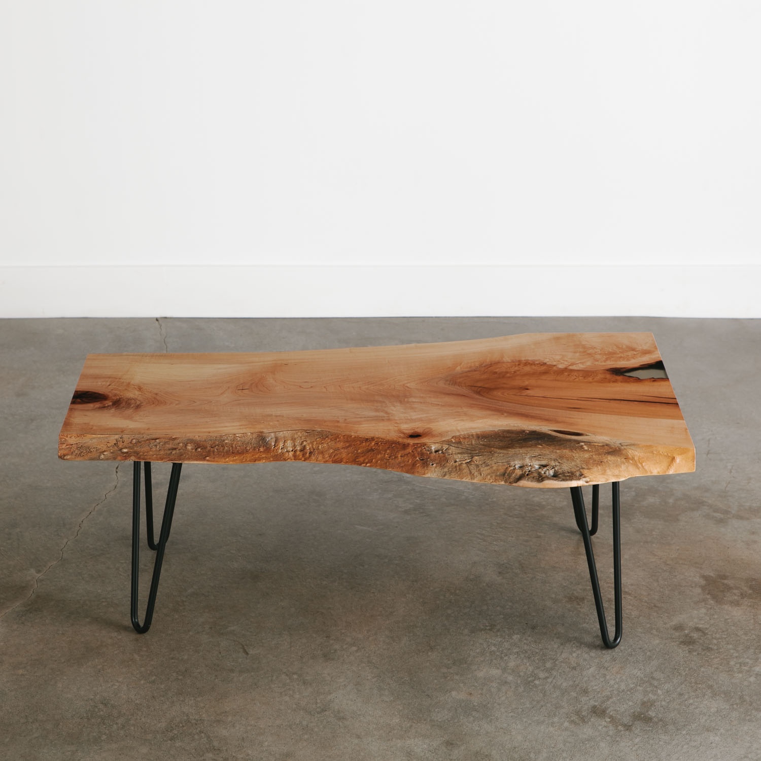 Maple Coffee Table Elko Hardwoods Modern Live Edge Furniture with regard to size 1500 X 1500