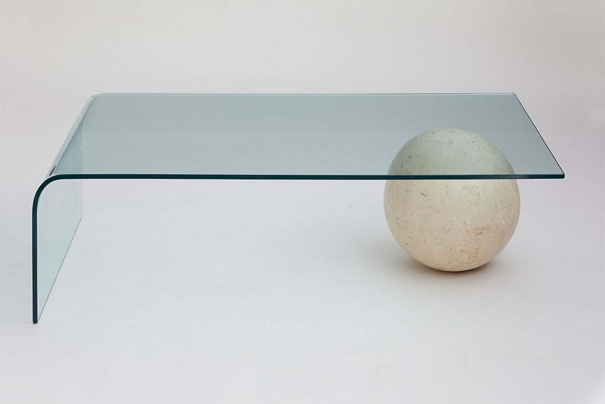 Marble Ball And Glass Coffee Table Aubespoke pertaining to size 1240 X 827