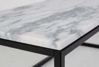 Marble Top Coffee Table With Black Steel Frame Cuckooland intended for dimensions 900 X 900