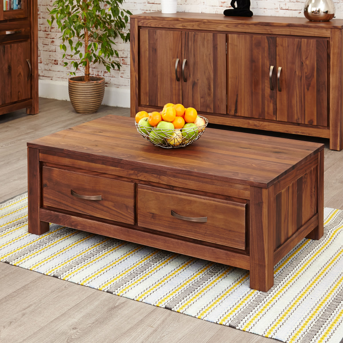 Mayan Walnut Low Four Drawer Coffee Table Was 54000 Now 47900 for proportions 1200 X 1200