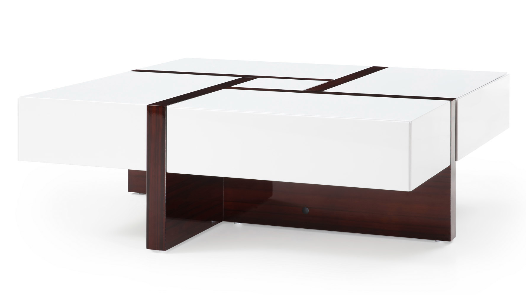 Mcintosh Square Coffee Table With Storage In White High Gloss And pertaining to dimensions 1778 X 1000