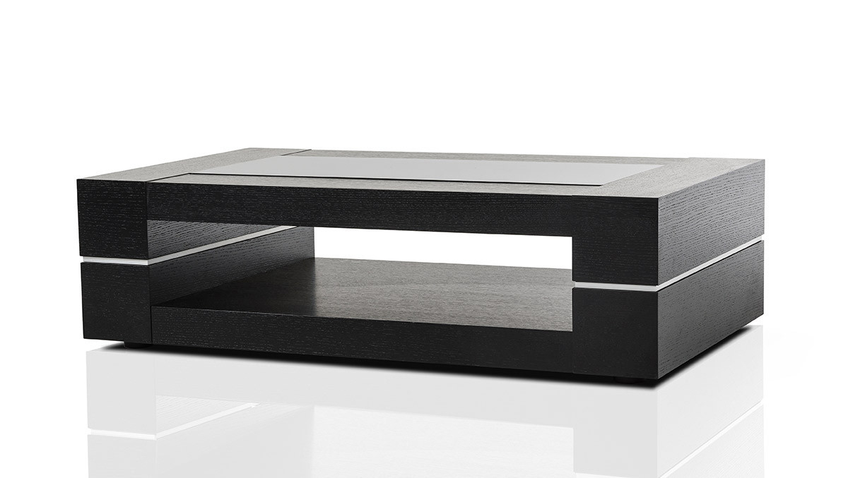 Mesa Modern Black Oak Coffee Table with regard to dimensions 1200 X 677