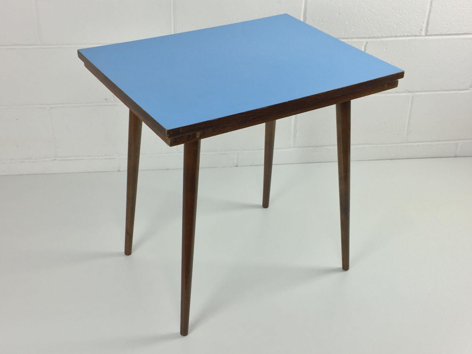 Mid Century Czech Beech Blue Formica Coffee Table From Tatra regarding size 1600 X 1200