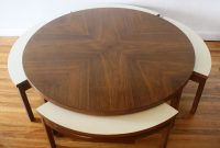 Mid Century Modern Round Game Coffee Table With 4 Hidden Chairs regarding sizing 3373 X 2531