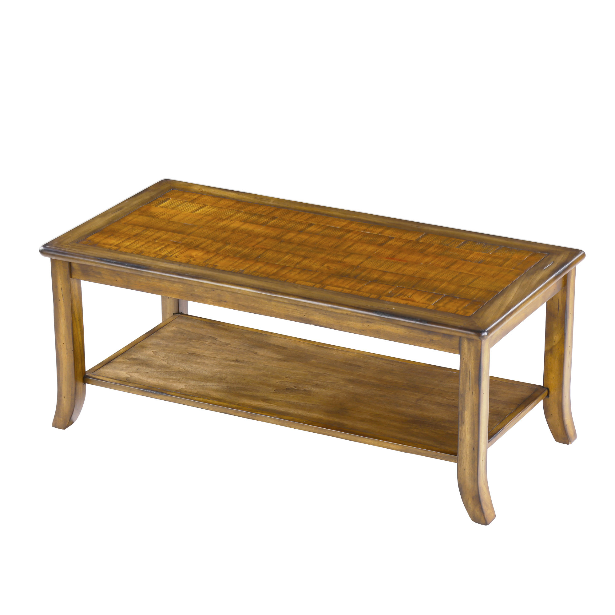 Millwood Pines Merlin Wood Top Coffee Table Wayfair pertaining to size 2000 X 2000