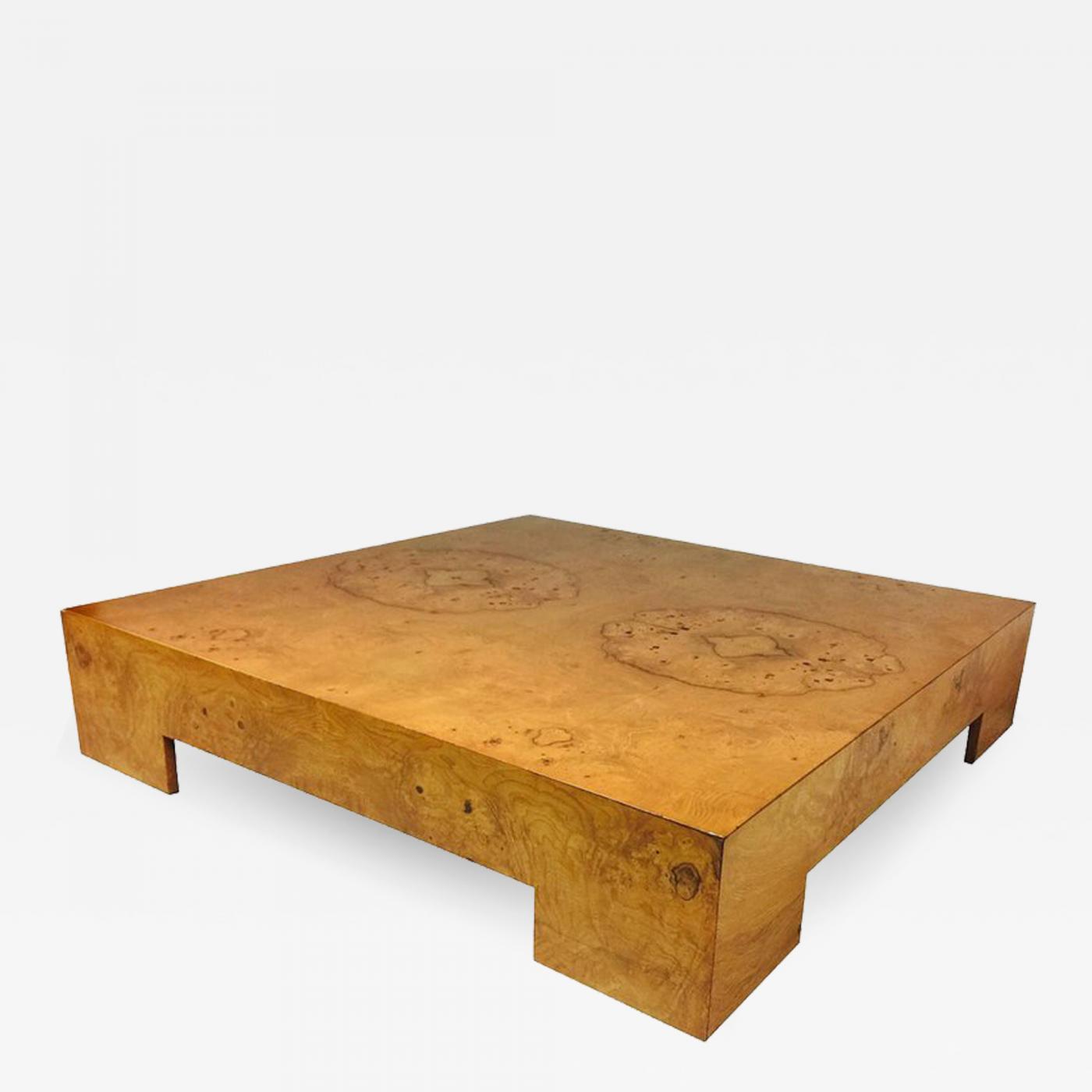 Milo Baughman Milo Baughman Burl Wood Coffee Table in size 1400 X 1400