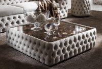 Modern Button Upholstered Nubuck Leather Square Coffee Table inside measurements 1000 X 1000