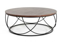 Modrest Strang Modern Walnut Black Round Coffee Table pertaining to proportions 1200 X 844