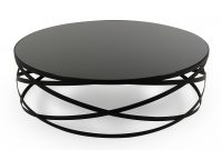 Modrest Wixon Modern Black Round Coffee Table in dimensions 1200 X 800