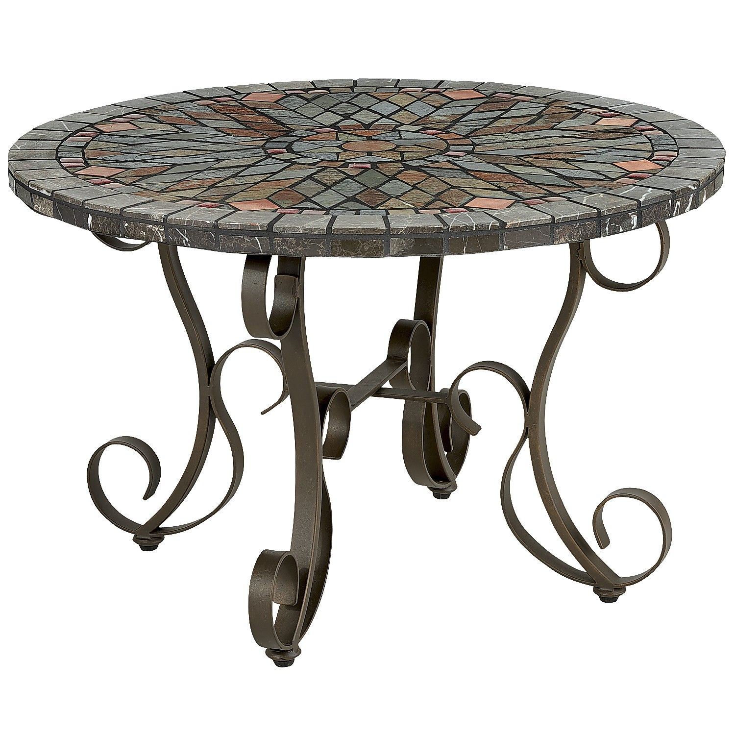 Multi Colored Verazze Mosaic Coffee Table Steel Outdoor inside sizing 1500 X 1500