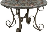 Multi Colored Verazze Mosaic Coffee Table Steel Outdoor throughout dimensions 1500 X 1500