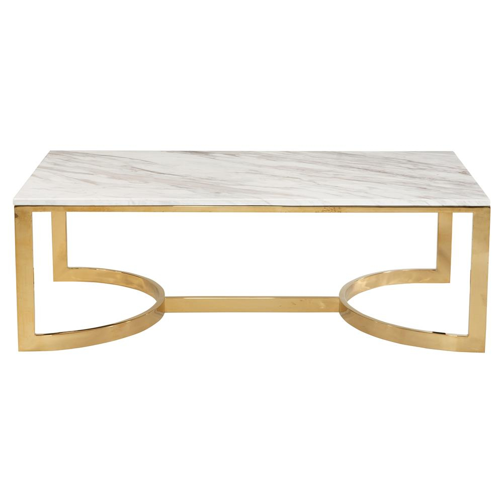 Nata Hollywood White Marble Brass Horse Shoe Coffee Table Kathy within dimensions 1000 X 1000