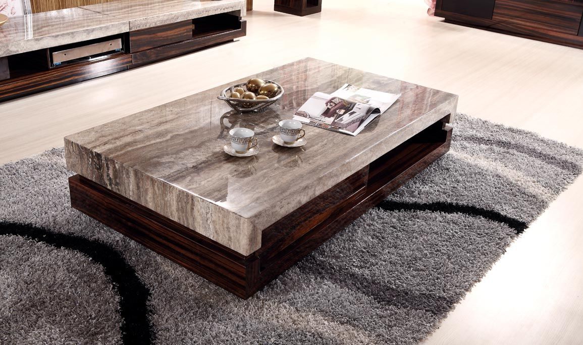 Newland Modern Marble Top Coffee Table And End Table K 028a Home intended for proportions 1155 X 683