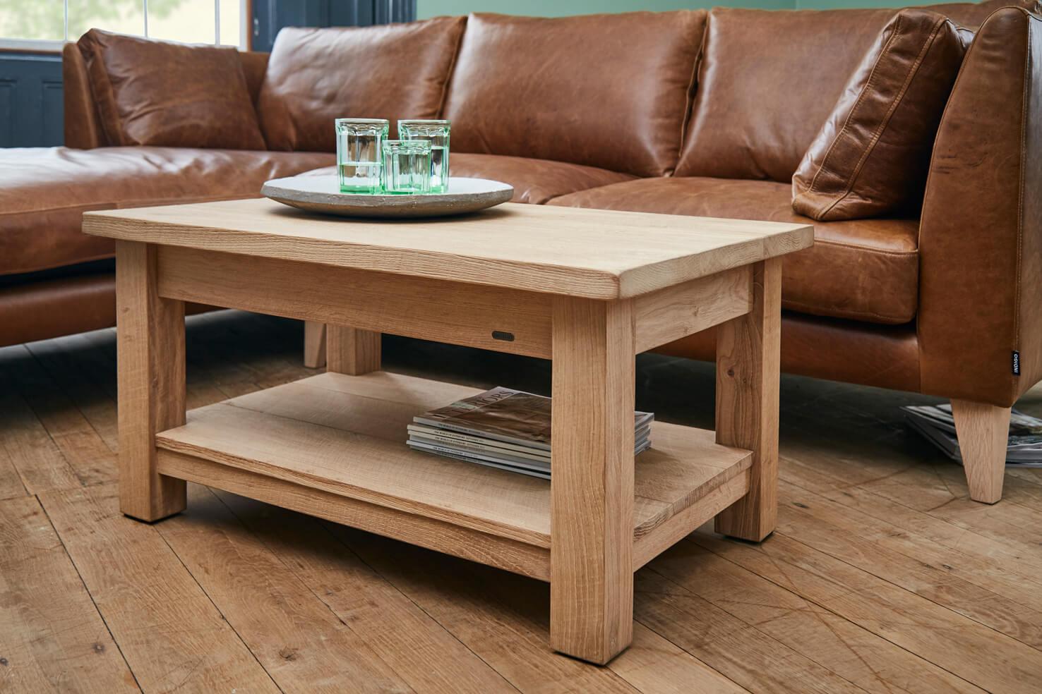 Oak Coffee Table Indigo Furniture with regard to dimensions 1476 X 984